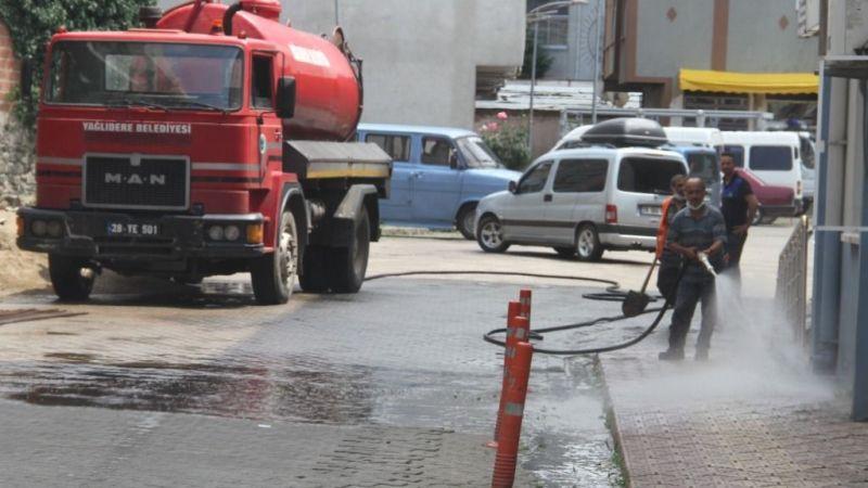 Yağlıdere'de cadde ve sokaklar temizlendi