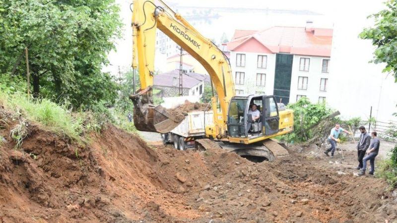Görele Belediyesi'nden yol genişletme çalışması