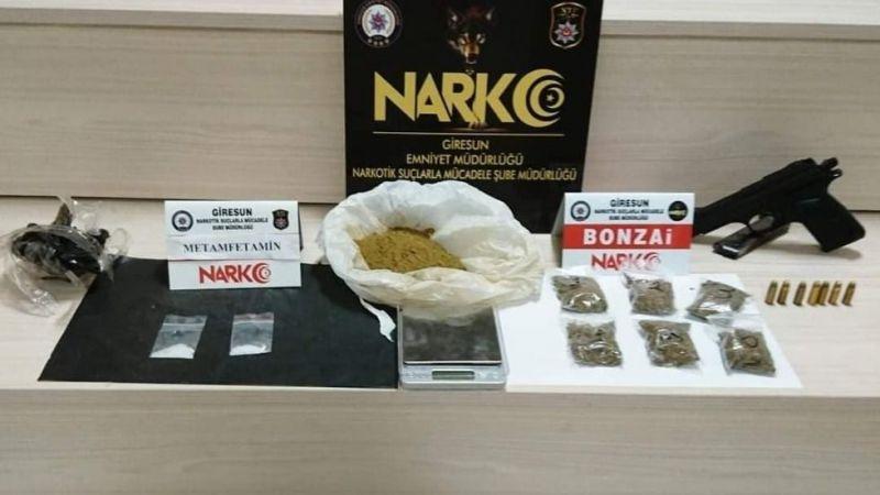 Giresun'da uyuşturucu operasyonunda bir şüpheli tutuklandı