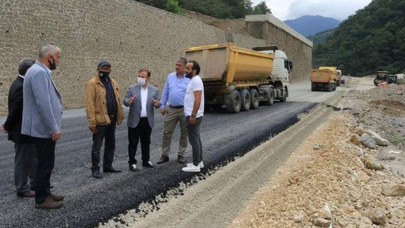 Giresun-Dereli yolu tamamlandığında 8 kilometre kısalmış olacak