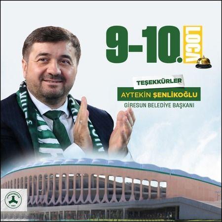 Başkan Şenlikoğlu, 9 ve 10 numaralı Locaları kiraladı