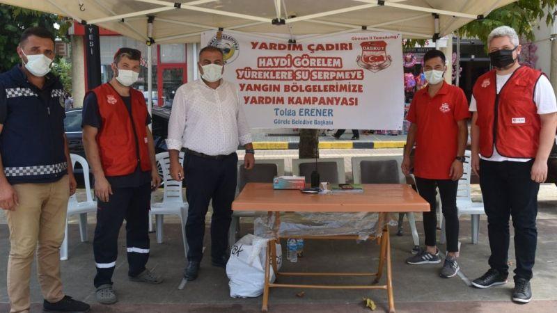 Görele Belediyesi ve Daskut Tarafından Manavgat Yangınında Mağdur Olan Vatandaşlar İçin Yardım Kampanyası Düzenlendi
