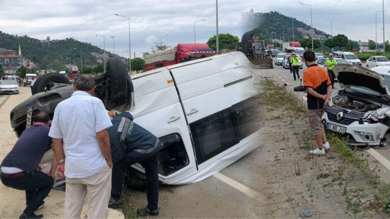 Bulancak'ta trafik kazası: 5 yaralı