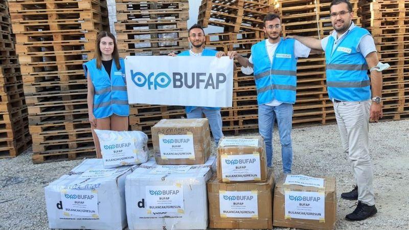 Afet bölgesine bir destek de Giresunlu gönüllülerden