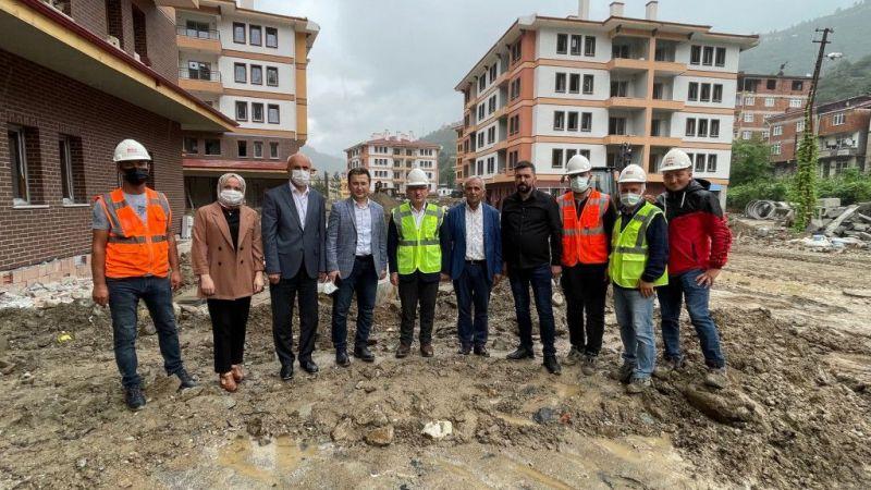 Selden etkilenen Doğankent'te 156 konut ve 70 dükkanın inşaatında sona gelindi