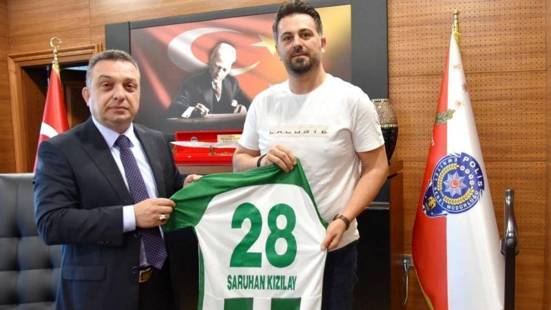 Giresunspor'dan Emniyet Müdürü Kızılay'a ziyaret