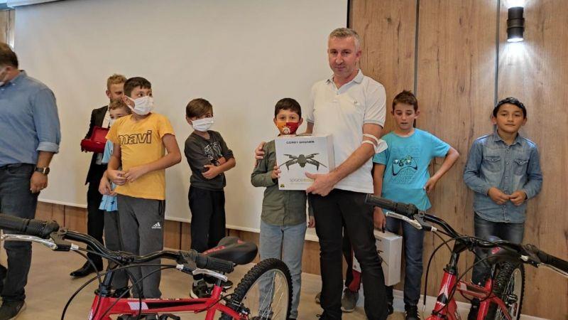 Eynesil'de Hafız adayları bisikletlerine kavuştu