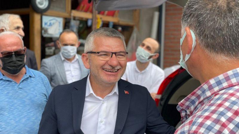 Milletvekili Aydın, Piraziz'de esnaf ve vatandaşlarla buluştu