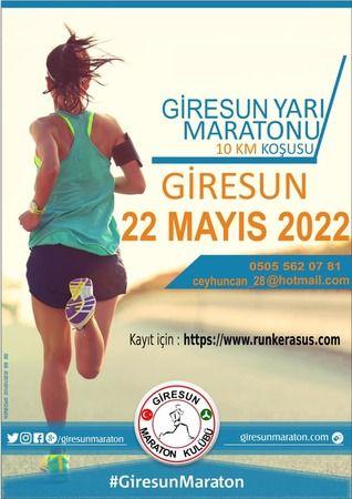 10 Km'lik Giresun Yarı Maratonu 22 Mayıs 2022'de