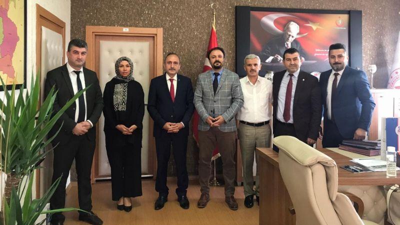 Öz Büro İş Genel Başkanı Sağlık Kuruluşlarını Ziyaret Etti