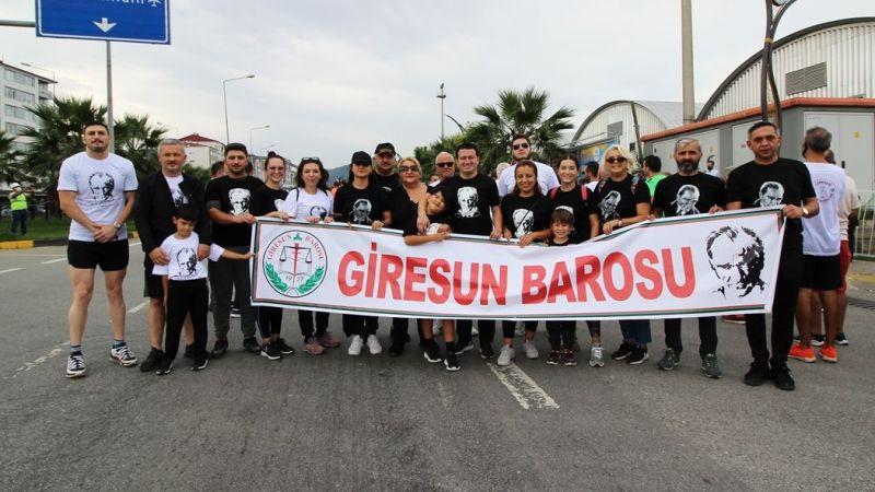 Giresun Barosu Avukatları, Atatürk'ün Giresun'a Gelişi ve Gaziler Günü nedeniyle yürüyüş yaptı