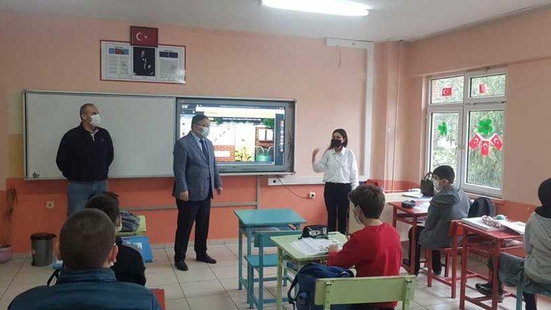Milli Eğitim Müdürü Tosunoğlu, sel tehlikesi yaşayan okulu ziyaret etti