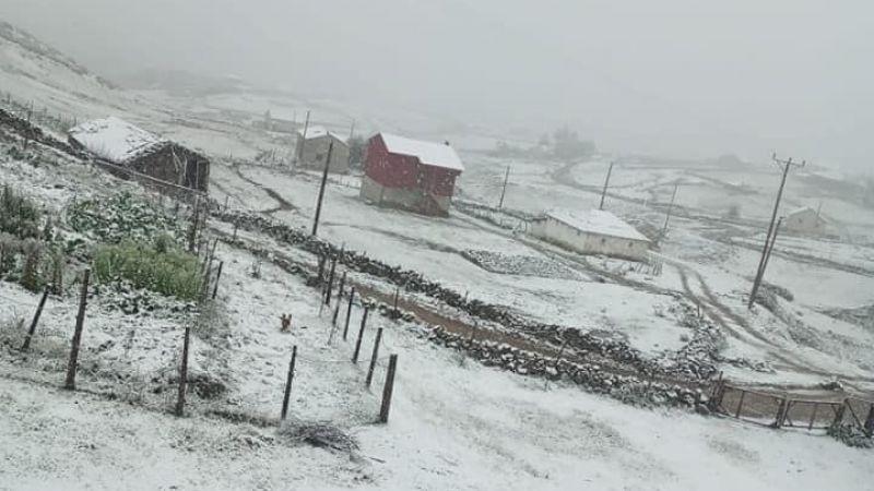 Giresun'da mevsimin ilk karı yağdı