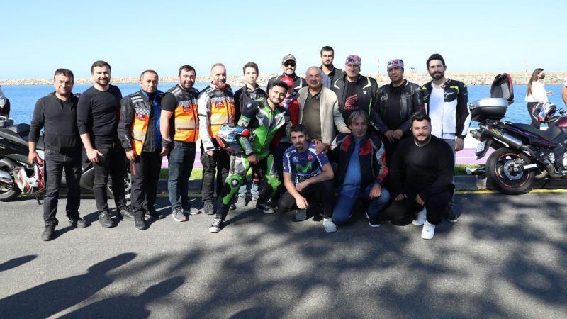 """Motosiklet tutkunları """"Büyük Karadeniz Buluşması"""" etkinliğinde bir araya geldi"""
