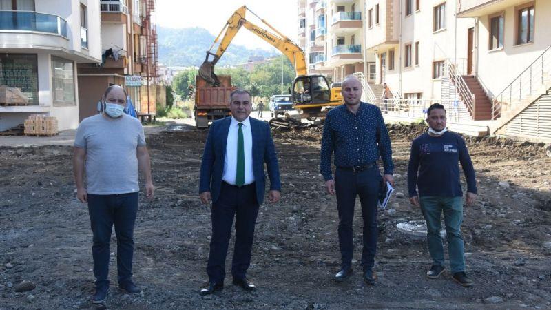 Görele Belediyesi Alt ve Üst Yapı Çalışmalarını Sürdürüyor