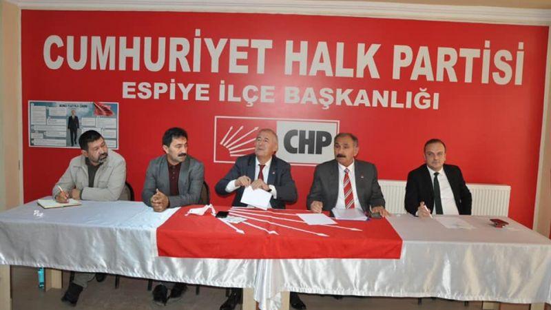 CHP Espiye Danışma Meclisi Toplantısı Yapıldı