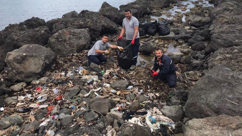 Espiye Belediyesi'nin çevre temizliği çalışmaları sürüyor
