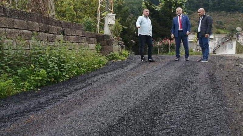 Keşap Belediye Başkanı Emür Sahada Çalışmaları Denetledi