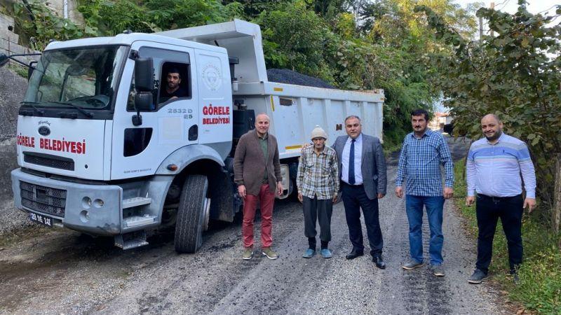 Görele Belediyesi Asfaltlama Çalışmalarını Bozcaali Mahallesi'nde Sürdürüyor