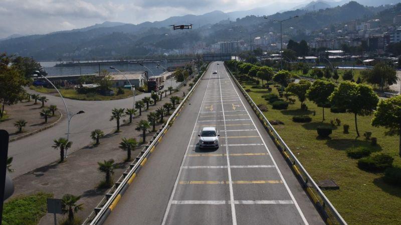Drone destekli trafik denetimi