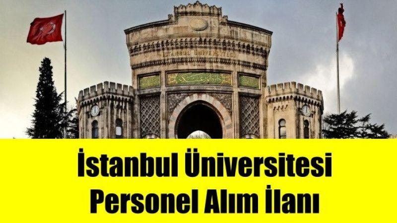 İstanbul Üniversitesi Cerrahpaşa Rektörlüğü  Personel Alım ilanı