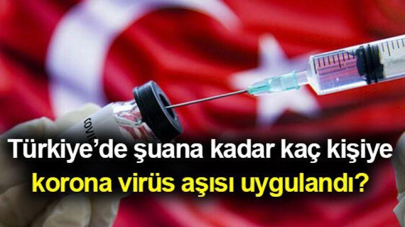 Türkiye'de şuana kadar kaç kişiye korona virüs aşısı uygulandı?