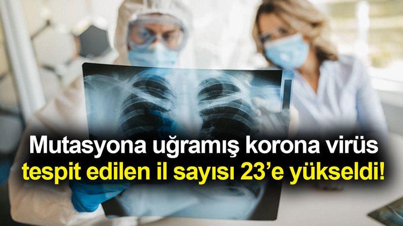 Mutasyona uğramış korona virüs tespit edilen il sayısı 23'e yükseldi!