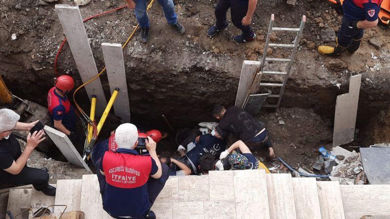Zonguldak'ta yurt inşaatı sırasında göçük meydana geldi. Gönüllü çalışan astsubay öldü...