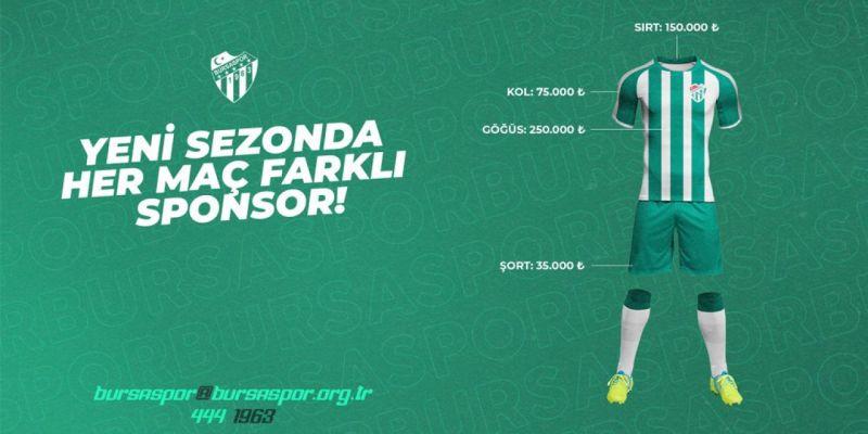Bursaspor'dan yeni reklam modeli...
