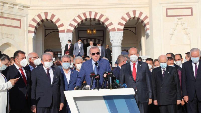Erdoğan Kıbrıs'ta Taliban ve Afganistan ile ilgili açıklamalar yaptı!