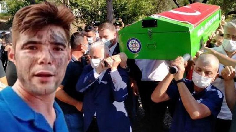 """Şahin Akdemir son yolculuğuna uğurlandı! """"Her yangına koşardı"""""""