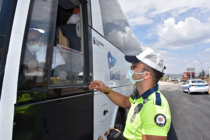 Kırıkkale'de otobüs denetimleri arttı!