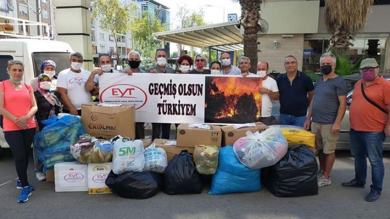 EYT'den yangınlarda zarar gören köylere destek