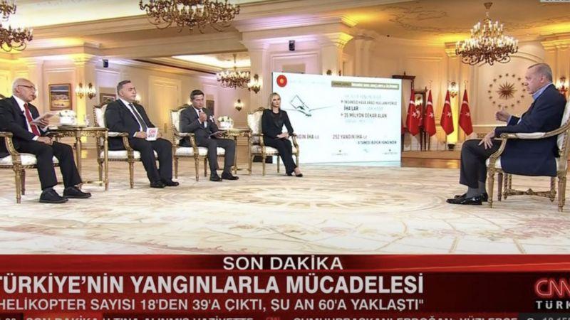 Erdoğan'ın CNN Türk'teki programda kullandığı prompter gözlerden kaçmadı!
