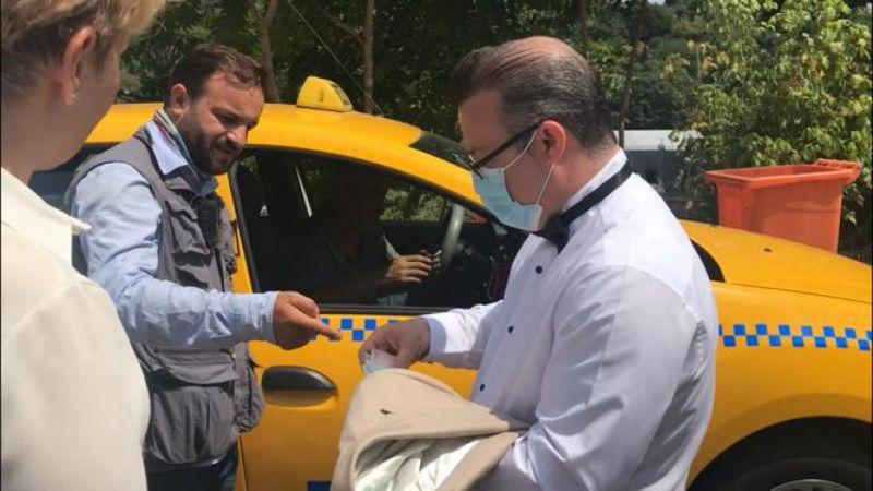 Aç gözlü taksici 1 kilometre yol için 200TL istedi!