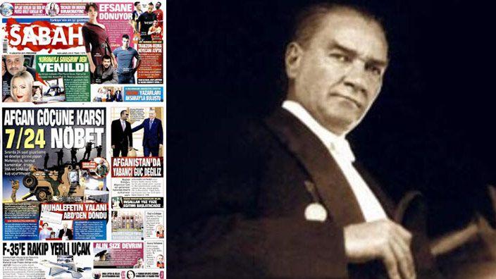 Sabah Gazetesi'nden dikkat çeken Atatürk yazısı