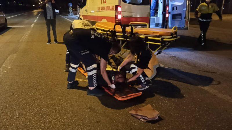 Bursa'da otomobil ve motosiklet çarpıştı, 1 kişi ağır yaralandı!