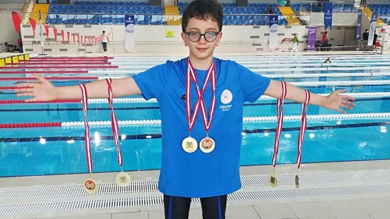 12 yaşındaki Yaman Rüzgar, 6 dalda rekor kırdı!