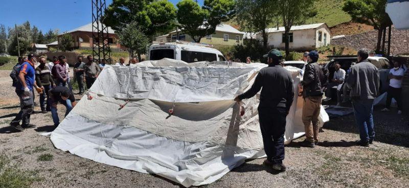 Bingöl'de 'Afet Farkındalık ve Çadır Kurulumu Eğitimleri' başladı