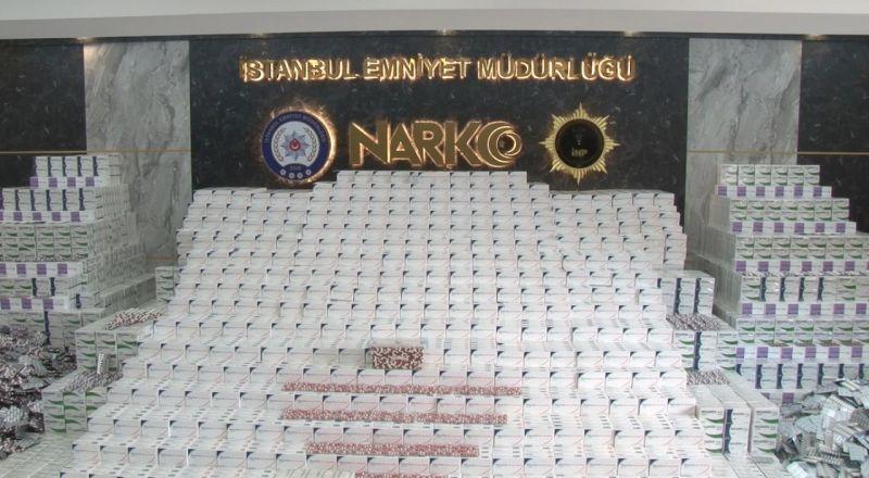 İstanbul'da rekor sayıda uyuşturucu özelliği bulunan ilaç yakalandı