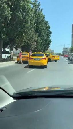 (ÖZEL) Taksiciler kadın sürücü adayının yolunu kesti, dehşeti yaşattı