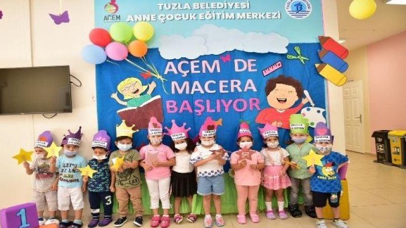 Tuzla Belediyesi Anne Çocuk Eğitim Merkezi'nde ilk ders zili çaldı
