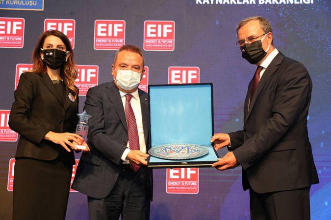 Başkan Böcek Enerji Fuarı'nın açılışına katıldı