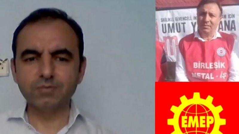 EMEP Genel Başkanı Ercüment Akdeniz Baldur işçilerinin grev çadırına konuk oldu