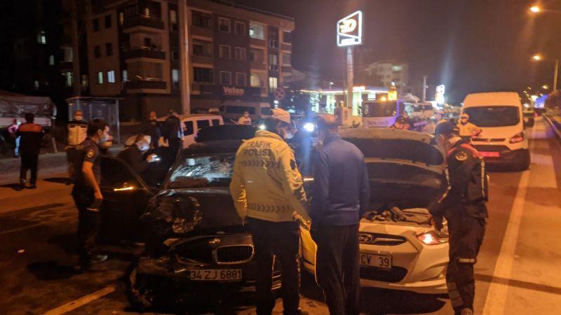 """""""Dur"""" ihtarına uymayan sürücü, kaza yapınca yakalandı"""