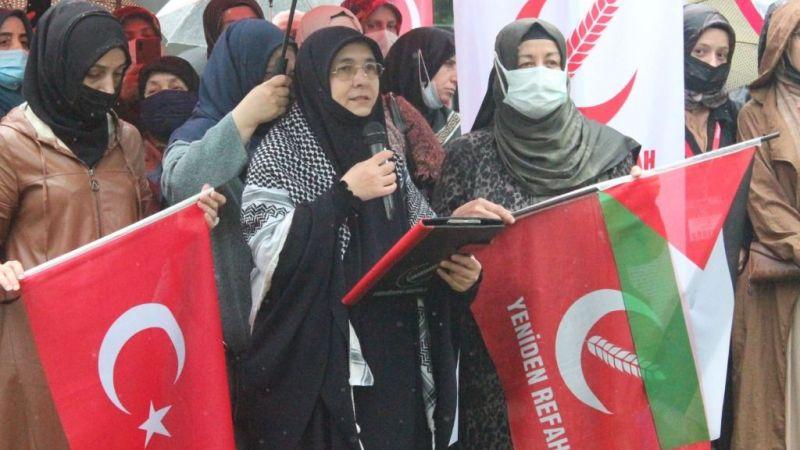 """YRP'li Kadınlar Filistin için tek ses oldu; """"Gün konuşma günü değil, icraat yapma günüdür"""""""