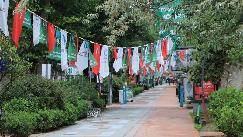 Kocaeli'de kısıtlama kapsamında kent merkezinde sessizlik hakim