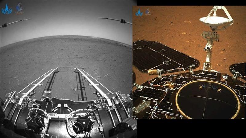 Çin'in uzay aracı Zhurong, Mars'ta ilk sürüşünü gerçekleştirdi