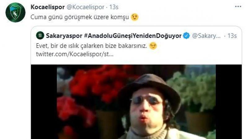 TFF 1. Lig'e son bileti almak için mücadele edecek Kocaelispor ve Sakaryaspor'dan keyifli paylaşımlar