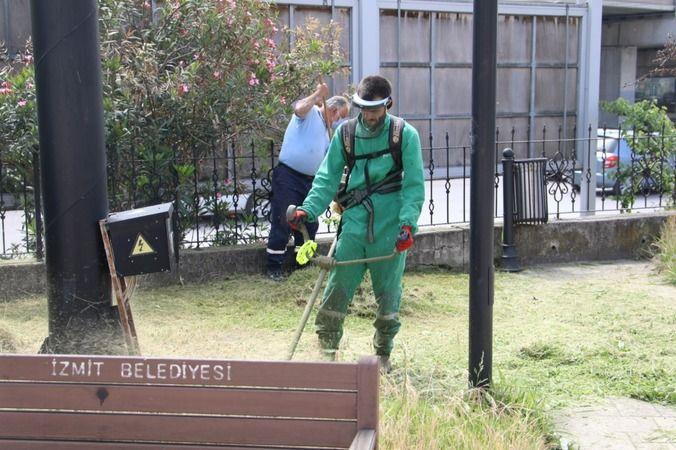 İzmit Belediyesi  Yenişehir'de parkları pırıl pırıl yaptı